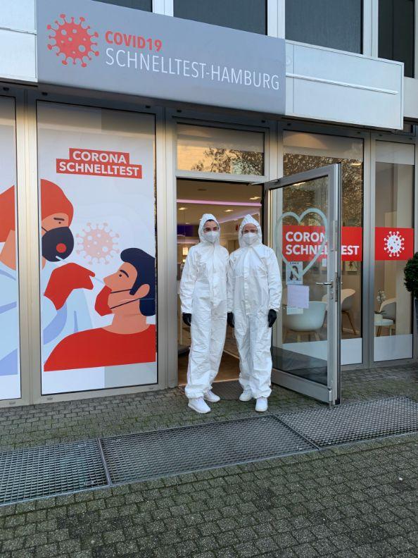 corona testzentrum Poppenbüttel